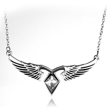 new Angel Wings Power Rune Pendant Necklace