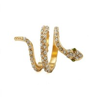 COILED SNAKE RHINESTONE RING