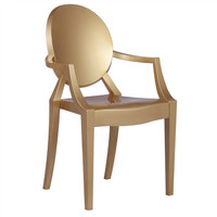 Philippe Starck Style Louis Ghost Gold Arm Chair