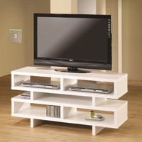 3F7700721PG - Nubia Contemporary Style White Finish TV Stand  - Furniture2Go