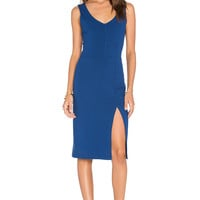 twenty Viscose Stretch Slit Dress in Bluemarine