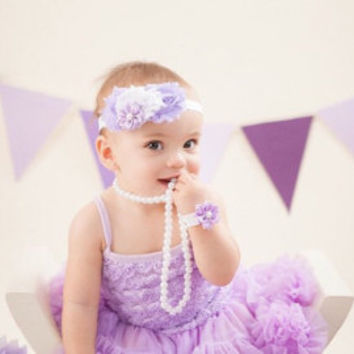 Petti skirt. Baby pettiskirt. 1st Birthday outfit. Purple birthday tutu dress. Baby girl birthday outfit. Birthday tutu. Cake smash outfit.