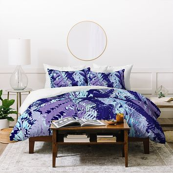 Rosie Brown Amethyst Ferns Duvet Cover
