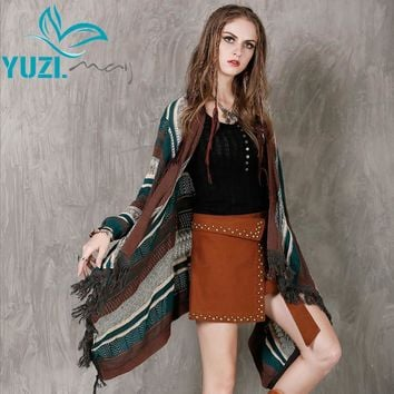 Autumn Sweater New Yarn Women Cardigans Long Sleeve Hollow Out Asymmetrical Shawl Cardigan