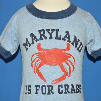 80s Maryland is for Crabs Ringer t-shirt 18-24 Months