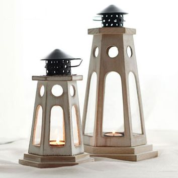 European Style Metal Candle Holder Lantern - Decorative Oil Lamps Candlestick