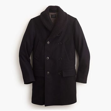 J.Crew Mens Shawl-Collar Peacoat With Thinsulate
