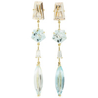 One-Of-A-Kind Klar Aquamarine With Diamond Drop Earrings | Moda Operandi