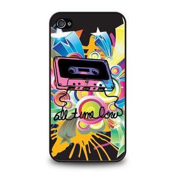 ALL TIME LOW RETRO CASSETE iPhone 4 / 4S Case Cover