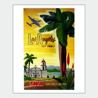 Los Angeles Palms Vintage Travel Poster Print