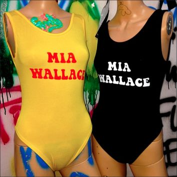 SWEET LORD O'MIGHTY! MIA WALLACE BODYSUIT IN BLACK