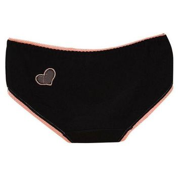 DCCKL6D 2016 Sexy Women Panties Cotton Briefs Solid Hollow Out Heart Underwear
