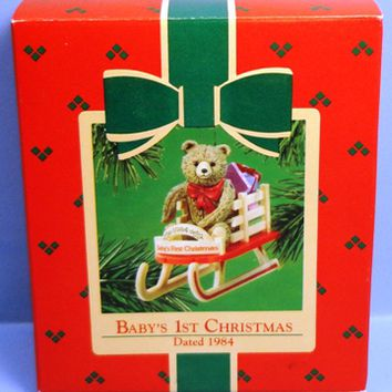 1984 Baby's First Christmas Hallmark Retired Ornament