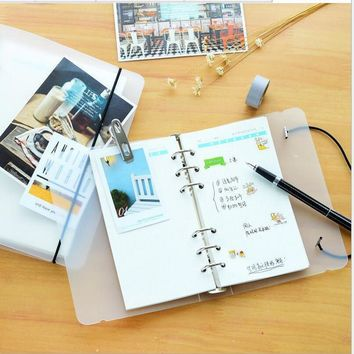 2017 Notebook A5 A6 binder Diary Refills Spiral notebook accessorie 6 Hole Planner COVER Inner Pages Weekly Monthly Plan 01708