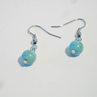 Turquoise Blue Beaded Dangle Drop Earrings Jewelry Fashion Accessories For Her