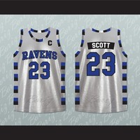 Nathan Scott 23 One Tree Hill Ravens Silver Basketball Jersey Any Play