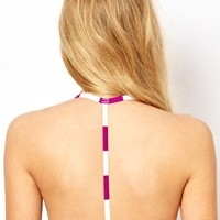 ASOS Mix and Match Stripe Moulded Triangle T Back Bikini Top. - Diva p