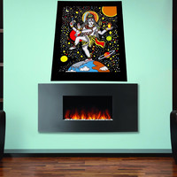 Full color decal Meditation yoga sticker, colored yoga wall art decal gc374