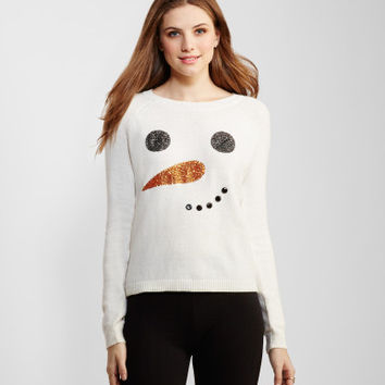 Sparkly Frosty Face Sweater