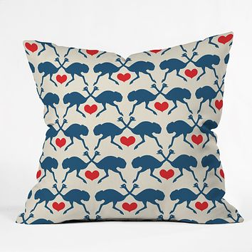 Holli Zollinger Ostrich And Heart Throw Pillow