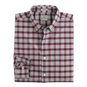J.Crew Mens Secret Wash Shirt In End-On-End Sportsman Red Check