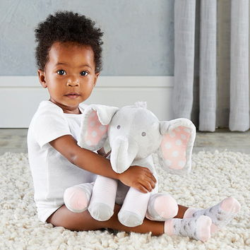 Opentip.com: Baby Aspen BA15185NA Lilly the Elephant Plush Plus with Socks for Baby