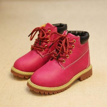 DCCKIX3 Shoes Winter Anti-skid Children Korean Dr Martens Stylish Boots [4919304132]