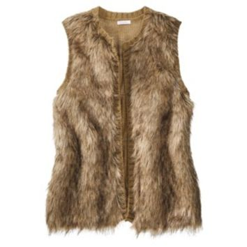 Xhilaration® Junior's Faux Fur Vest - Assorted Colors