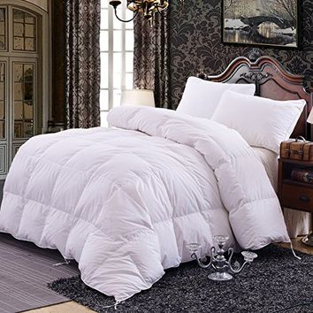 Topsleepy Goose Down Filling Queen Bedding Comforter, White
