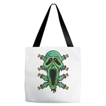 zombie smile Tote Bags