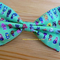Animal Crossing Inspired Hair Bow or Bow Tie