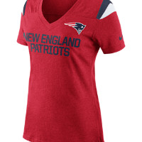 Nike Fan (NFL Patriots) Women's Top Size Large (Red)