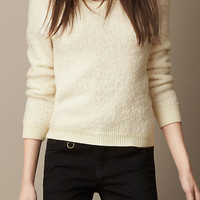 Shearling Effect Sweater