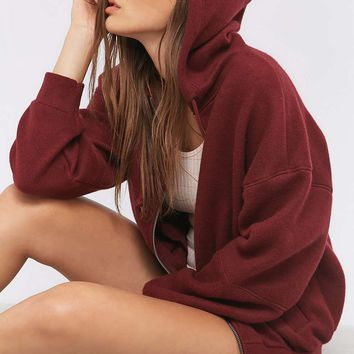 BDG Cosy Seamed Hoodie - Urban Outfitters