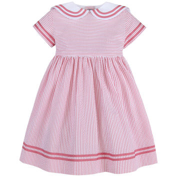 Tween Seersucker Sailor Dress