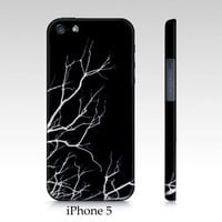 iPhone 4 4s, iPhone 5, Samsung Galaxy S3 case Winter branches, black, white, minimalist