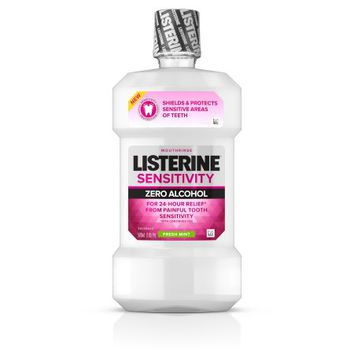 Listerine Sensitivity Alcohol-Free Mouthwash in Fresh Mint, 500 mL - Walmart.com