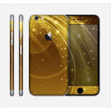 The Abstract Gold Fantasy Swoop Skin for the Apple iPhone 6