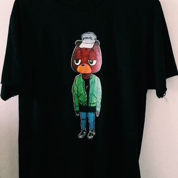 Bear'N All ( DISTRESSED) Black tee