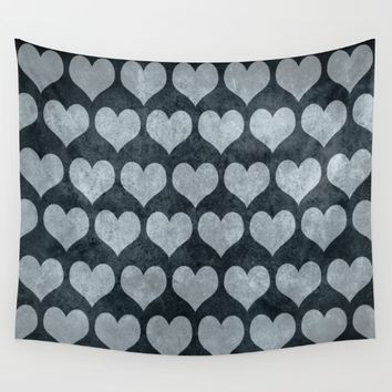 Rustic Hearts  Wall Tapestry by Xiari