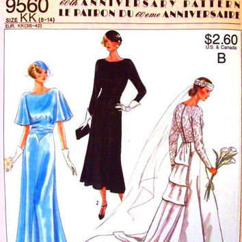1920s Wedding Dress, Evening Dress, Bridesmaid Dress, Sewing Pattern, Simplicity 60th Anniversary Reissue 9560 Sizes 8 to 14 uncut