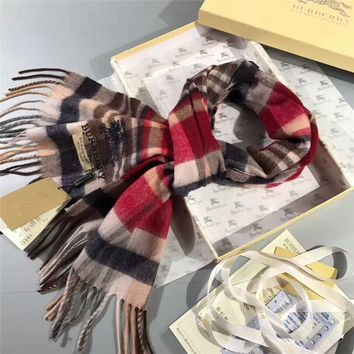 Best Online Sale Luxury Burberry Keep Warm Scarf Embroidery Scarves Winter Wool Shawl - Multicolor 2
