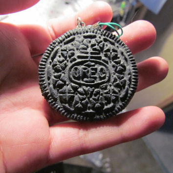 Polymer Clay Oreo friendship necklace by PokiCharms on Etsy