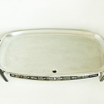 Vintage Farberware Electric Griddle Aluminum Automatic Grill, Model 260, Complete and Working Condition Kitchen Appliance