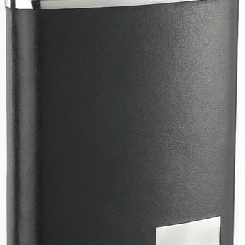 Visol Eclipse S 18 oz Black Genuine Leather Flask