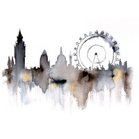 London Original watercolor painting - ART PRINT