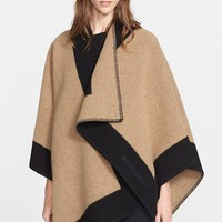 Women's Burberry Color Border Cape - Beige