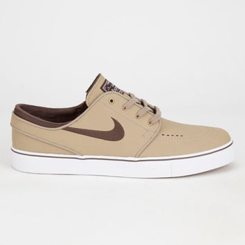 Nike Sb Zoom Stefan Janoski Leather Mens Shoes Khaki  In Sizes