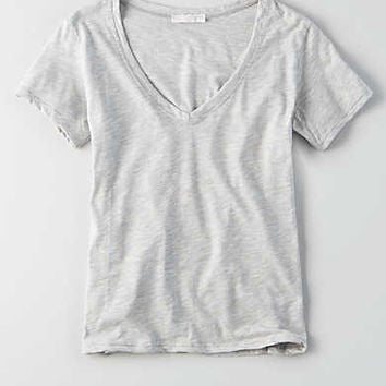 Don't Ask Why V-Neck T-Shirt, Gray