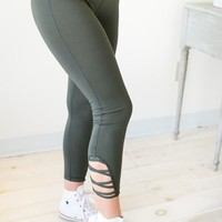 Criss To My Cross Olive Athletic Pants